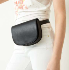 Faux Leather Saddle Belt Bag BP.