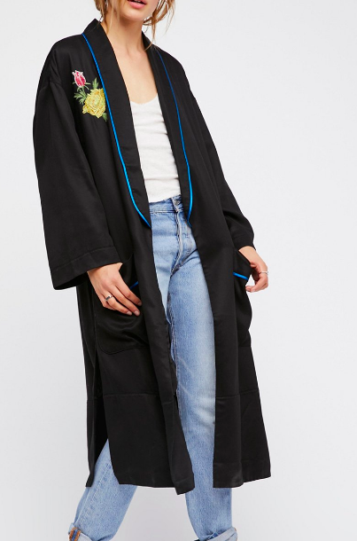 FP Embroidered Slouchy Duster