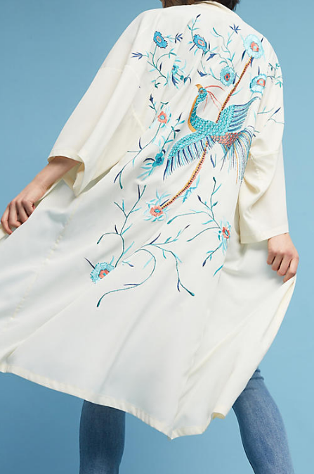 Anthropologie Bird of Paradise Kimono