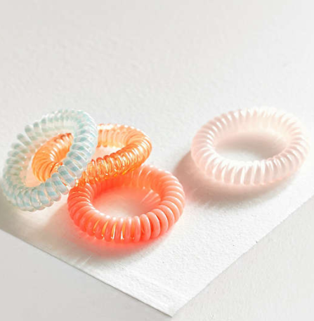 UO Telephone Cord Hair Tie Set