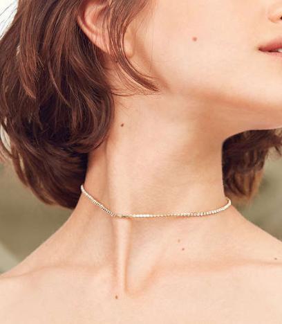 Cami Delicate Rhinestone Choker Necklace