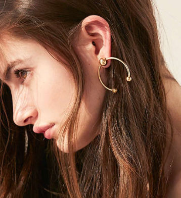 UO Birmingham Statement Post Earring