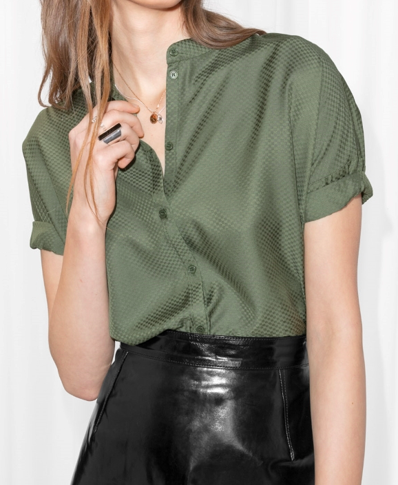 AND OTHER STORIES OVERSIZED BUTTON TOP