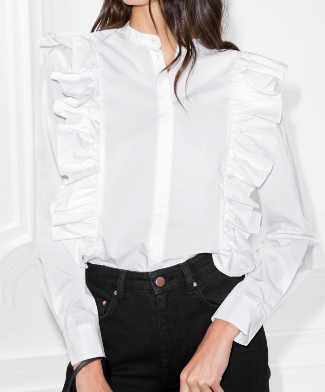 Stories Frills Button Down Blouse