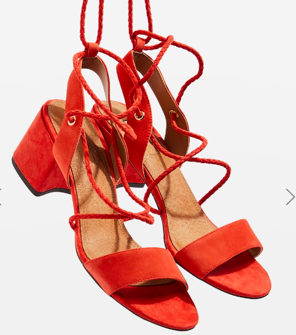 Topshop NEVADA Ankle Tie Sandals
