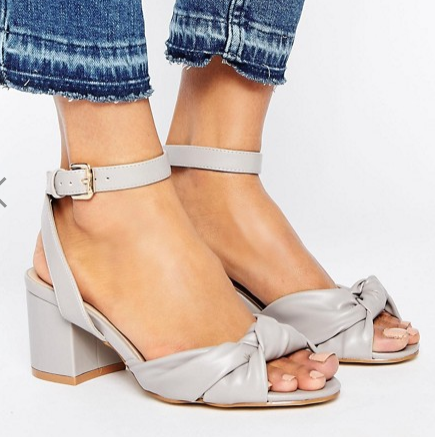 New Look Bow Front Block Heel Sandals