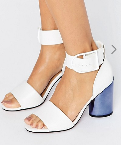 ASOS HOLD ON Premium Leather Heeled Sandals