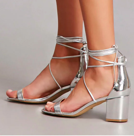 Daya by Zendaya Ankle-Wrap Heels