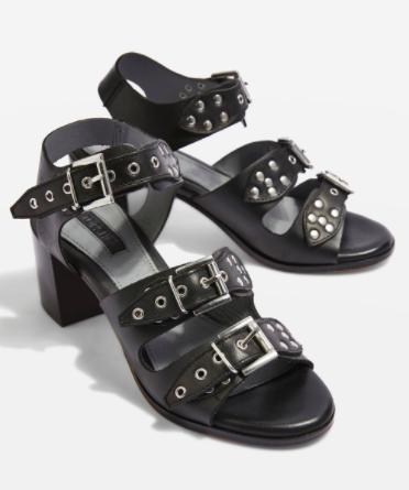 Veronica Studded Buckle Sandal TOPSHOP