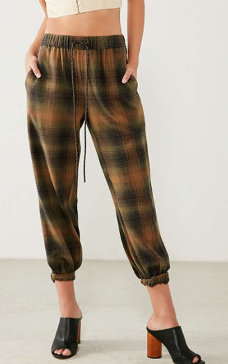 BDG Steph Plaid Flannel Jogger Pant