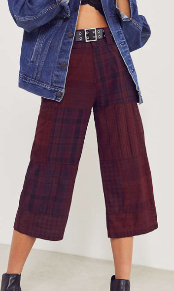 BDG Anna Patchwork Plaid Cropped Pant