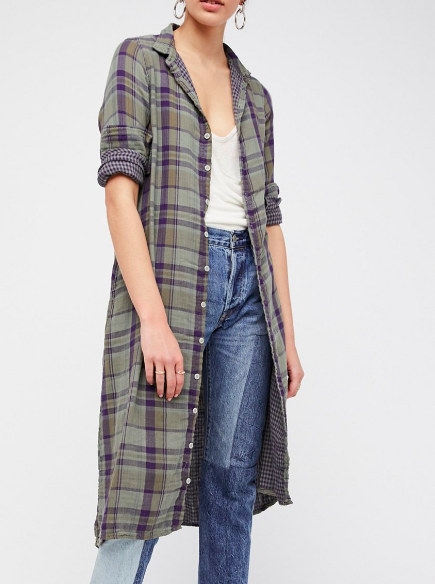 FP Doublecloth Plaid Maxi