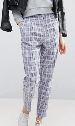 ASOS Summer Check Tapered Pant