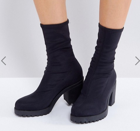 Vagabond Grace Black Sock Boots