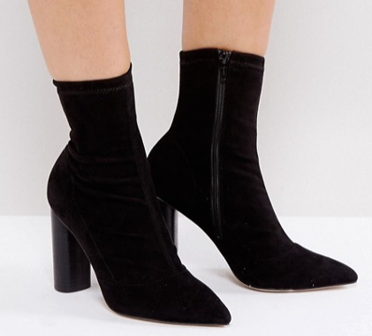 Office London Sock Heeled Ankle Boots