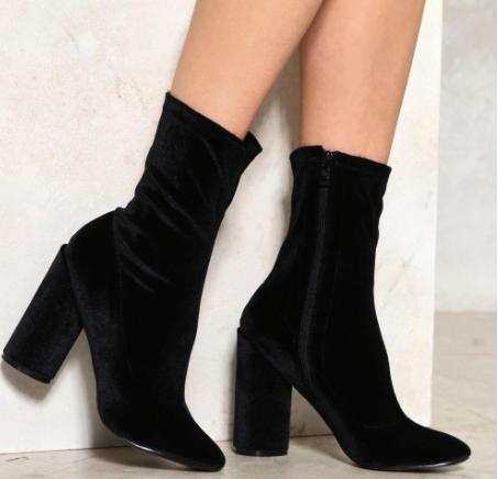 Sock It To Me Velvet Boot
