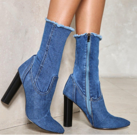 Nasty Gal High Time Denim Boot