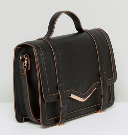 ASOS V-Bar Structured Satchel Bag