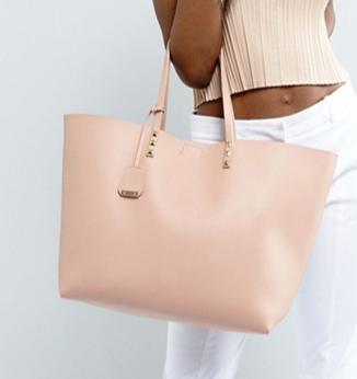 Glamorous Studded Blush Tote Bag