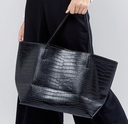 Glamorous Moc Croc Tote Bag