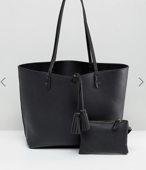 Street Level East West Tote Bag in Black