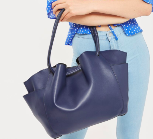 Topshop SARA Pocket Shopper Bag