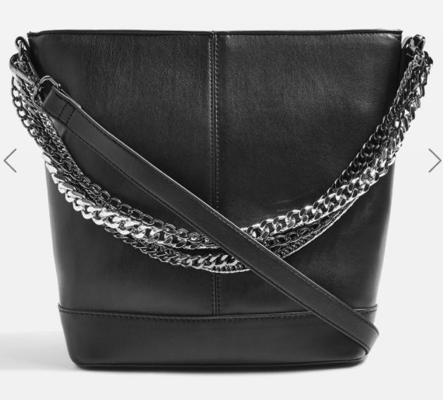 Topshop SOPHIA Multi Chain Bucket Bag