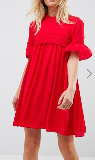 ASOS Shirred Smock Dress