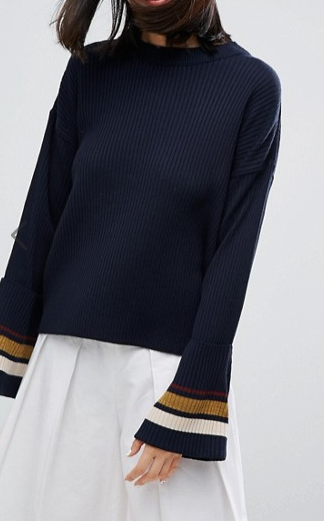 ASOS Sweater with Deep Cuff and Tipping