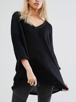 Noisy May Deep V-Neck Oversize Sweater