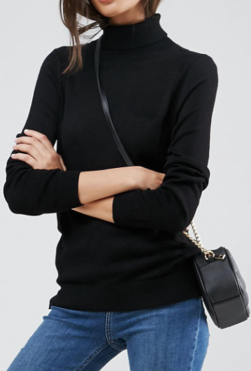 ASOS Sweater With Roll Neck And Rib Detail