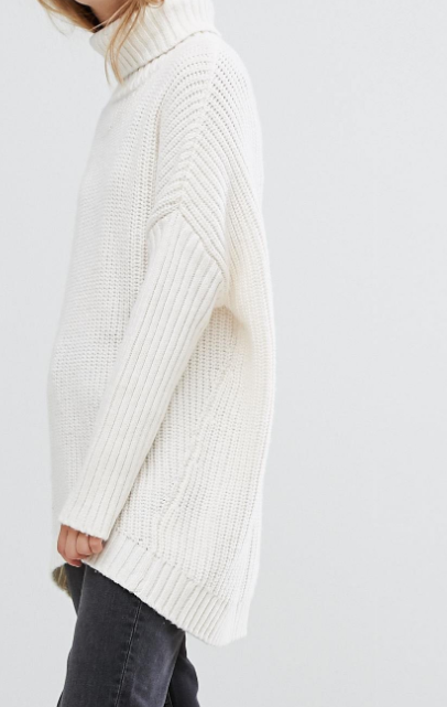 Weekday Turtleneck Fluffy Knit Sweater