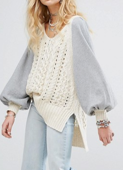 Free People Hideaway Cable Knit Sweater