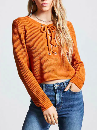 Forever 21 Contemporary Sweater-Knit Top