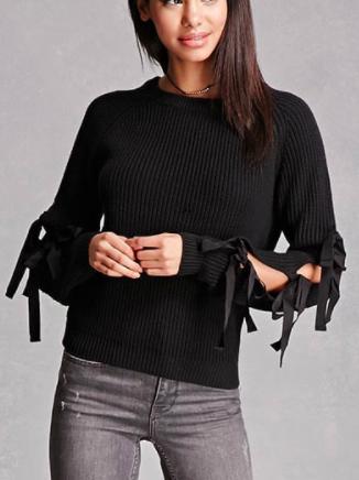 English Factory Cutout Sweater