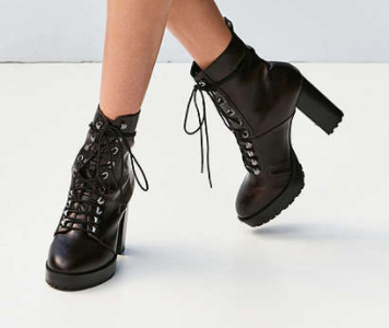 Kennedy Lace-Up Heeled Ankle Boot