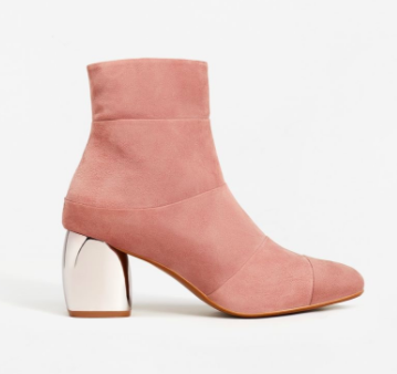 Mango Mirror heel suede ankle boots
