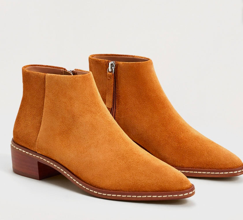 Mango Suede ankle boots