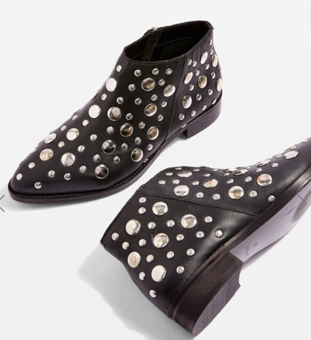 Topshop ALEC Studded Boots