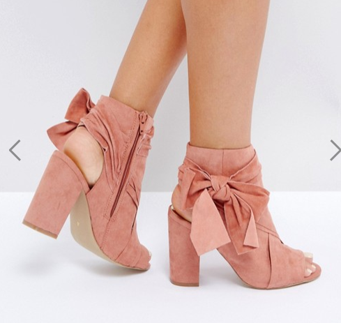 River Island Bow Side Open Toe Shoe Boots