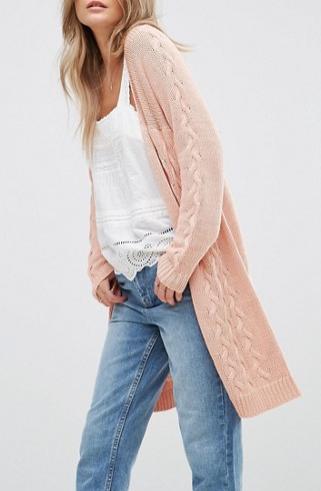 Vero Moda Long Open Knit Cardigan