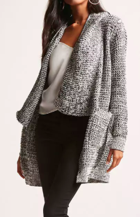Forever 21 Woven Heart Draped Cardigan