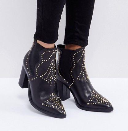 Steve Madden Himmel Studded Heeled Boots