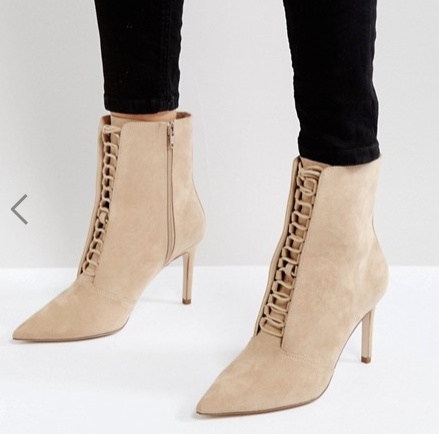 ASOS EGO Point Lace Up Boots