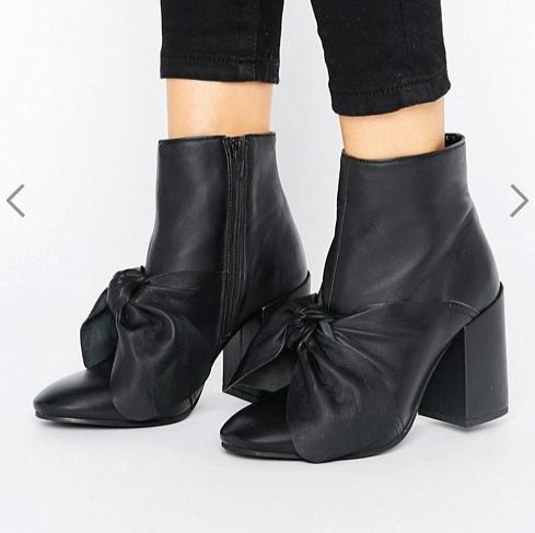 ASOS EDIE Premium Leather Boots