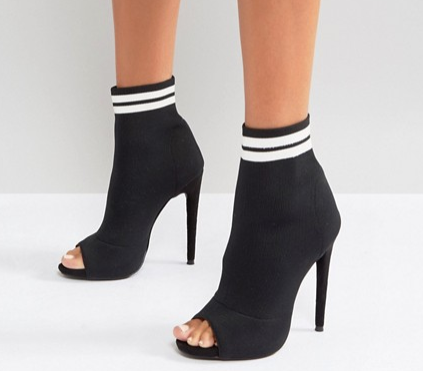 Missguided Sports Pull On Heeled Sock Boot