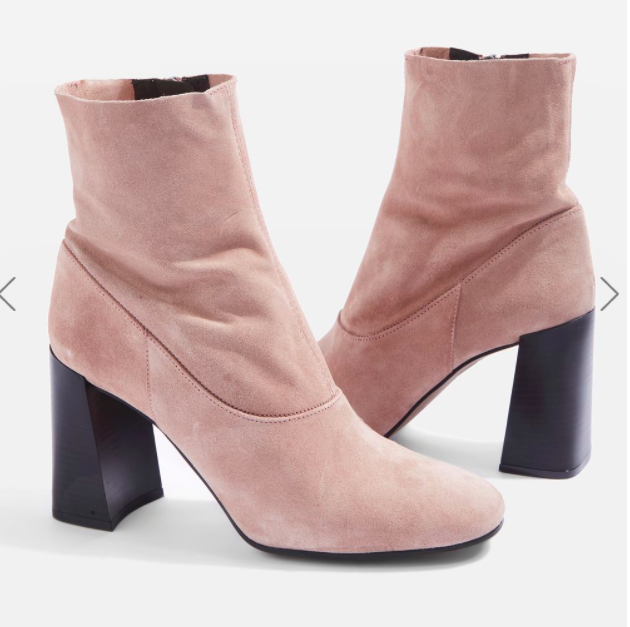 Topshop HOLI Leather Sock Boots
