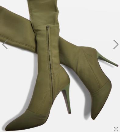 Topshop BUBBA High Leg Stretch Boots