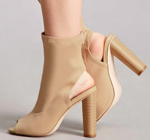 Forever 21 Cutout Ankle Sock Boots