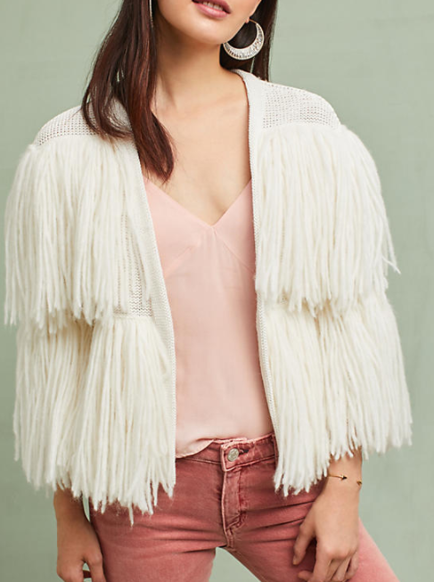 Anthropologie Cece Fringed Cardigan